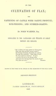 On the cultivation of flax by John Warnes