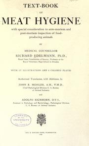 Text-book of meat hygiene by Richard Heinrich Edelmann