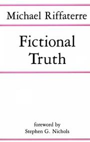 Fictional truth by Michael Riffaterre