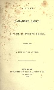 Cover of: Milton&#39;s Paradise lost by John Milton