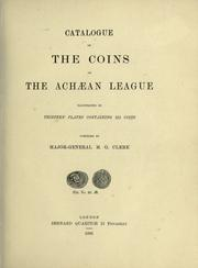 Catalog of the coins of the Achaean league PDF