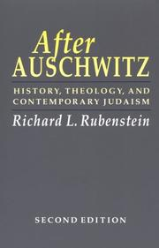 After Auschwitz by Richard L. Rubenstein