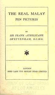 The real Malay by Swettenham, Frank Athelstane Sir