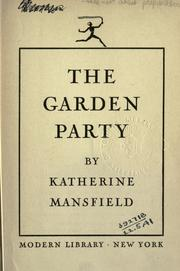The garden party 1922 edition open library - The garden party katherine mansfield ...