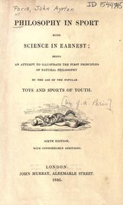 Philosophy in sport made science in earnest by John Ayrton Paris