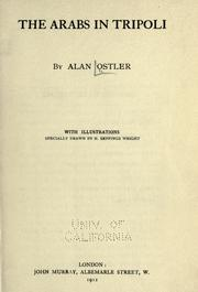 The Arabs in Tripoli by Alan Ostler
