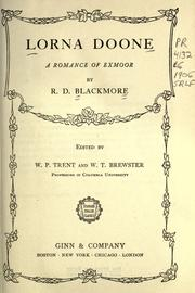 Cover of: Lorna Doone by R. D. Blackmore