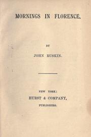 Cover of: Mornings in Florence by John Ruskin