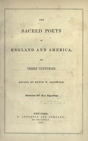 The sacred poets of England and America, for three centuries PDF