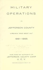 Military operations in Jefferson County, Virginia (and West Va.) 1861-1865 Anonymous