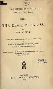The devil is an ass by Ben Jonson