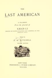 Cover of: The last American by John Ames Mitchell