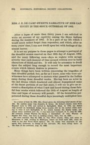 Mrs. J.E. De Camp Sweet's narrative of her captivity in the Sioux outbreak of 1862 PDF