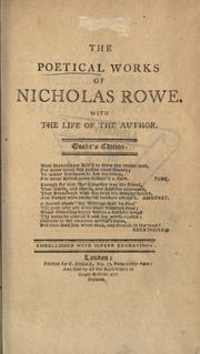 Poems by Rowe, Nicholas