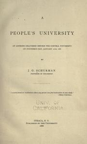 A people's university by Jacob Gould Schurman