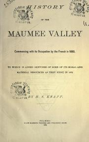 History of the Maumee Valley PDF