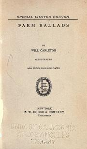 Cover of: Farm ballads by Will Carleton