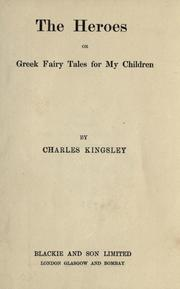 The heroes by Charles Kingsley