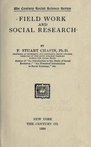 Field Work and Social Research PDF