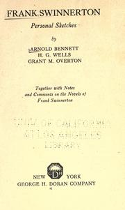 Frank Swinnerton by Arnold Bennett