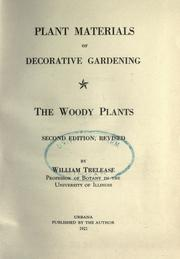 Plant materials of decorative gardening by Trelease, William