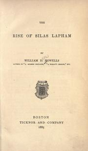 Cover of: The rise of Silas Lapham by William Dean Howells