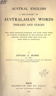 Austral English by Edward Ellis Morris