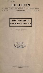 The system in German schools PDF
