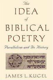 The idea of biblical poetry PDF