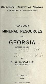 Hand-book, mineral resources of Georgia PDF