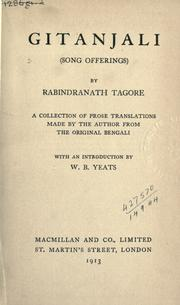 Cover of: Gitanjali (song offerings) by Rabindranath Tagore