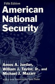 American national security by Amos A. Jordan