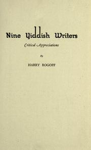 Nine Yiddish writers by Harry Rogoff