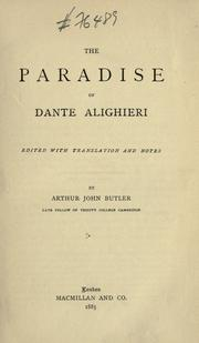 Cover of: The Paradise of Dante Alighieri by Dante Alighieri