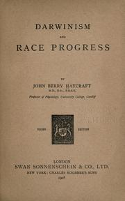 Darwinism and race progress PDF