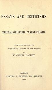 Essays and criticisms PDF