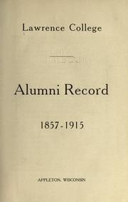 Alumni record, 1857-1915 PDF