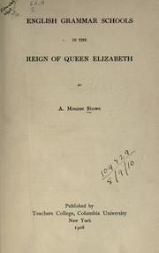 English grammar schools in the reign of Queen Elizabeth PDF