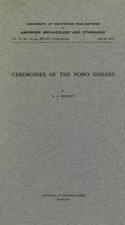 Ceremonies of the Pomo Indians by Barrett, S. A.