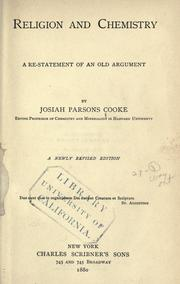 Religion and chemistry by Cooke, Josiah Parsons