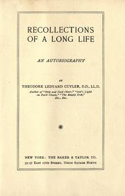Recollections of a long life PDF