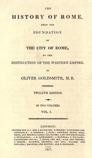 Cover of: The history of Rome by Goldsmith, Oliver