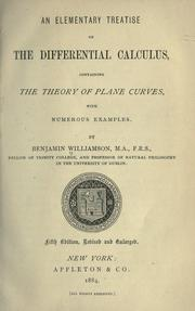 An elementary treatise on the differential calculus by Williamson, Benjamin