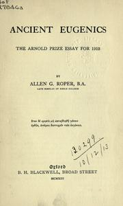 Ancient eugenics by Allen G. Roper