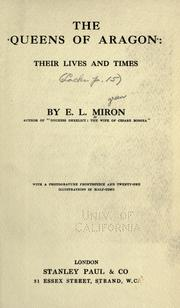 The queens of Aragon by E. L. Miron