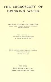 The microscopy of drinking-water by Whipple, George Chandler