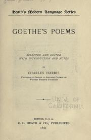Goethes poems