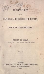 History of the Catholic archbishops of Dublin since the Reformation PDF