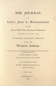 Cover of: The journal of Lieut. John L. Hardenbergh by John Leonard Hardenbergh