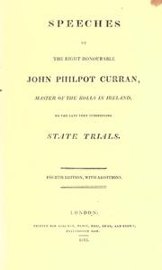 Speeches of the Right Honourable John Philpot Curran ... on the late very interesting state trials PDF